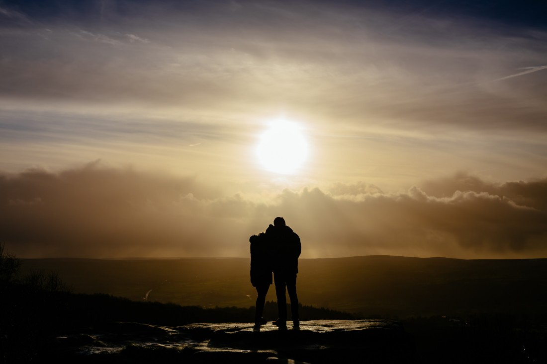 Michala and Phil - Brimham Rocks Engagement Shoot
