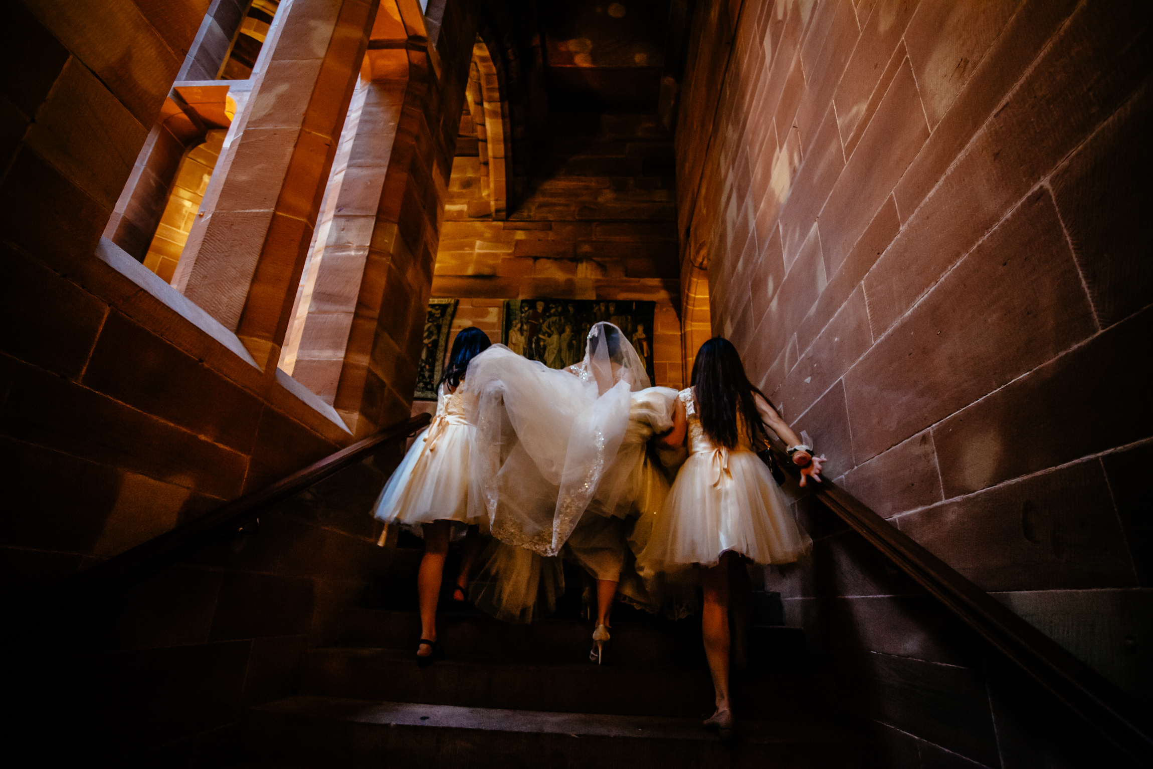 Sonia & Vincent - Sansom Photography Peckforton Castle Wedding Photography-34