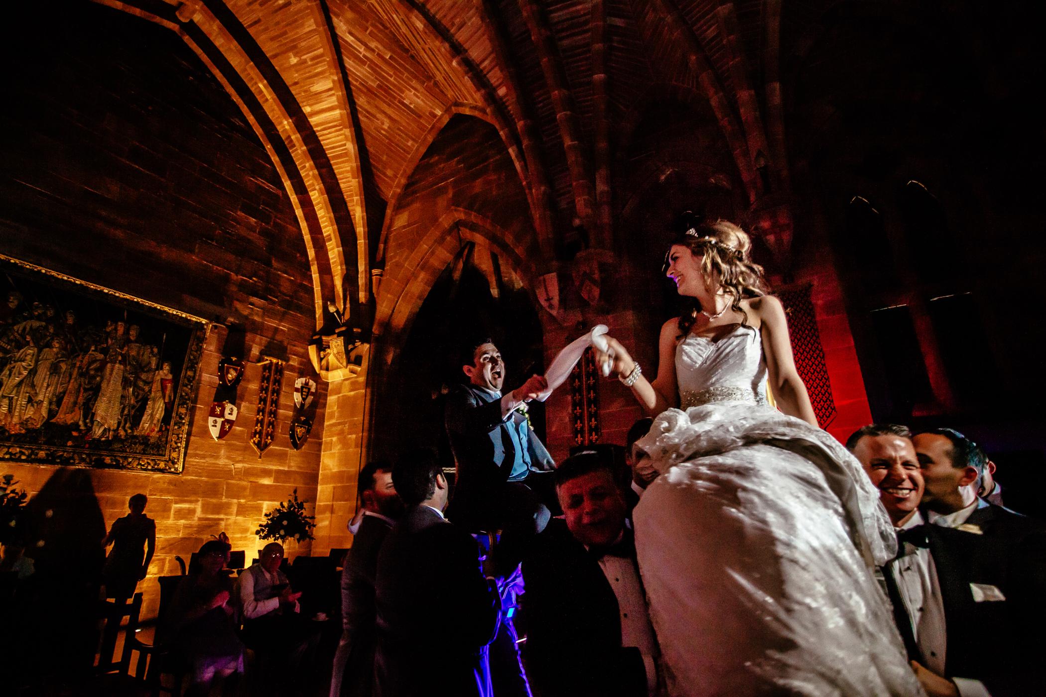Emma & Alex Peckforton castle wedding - Sansom Photography-51
