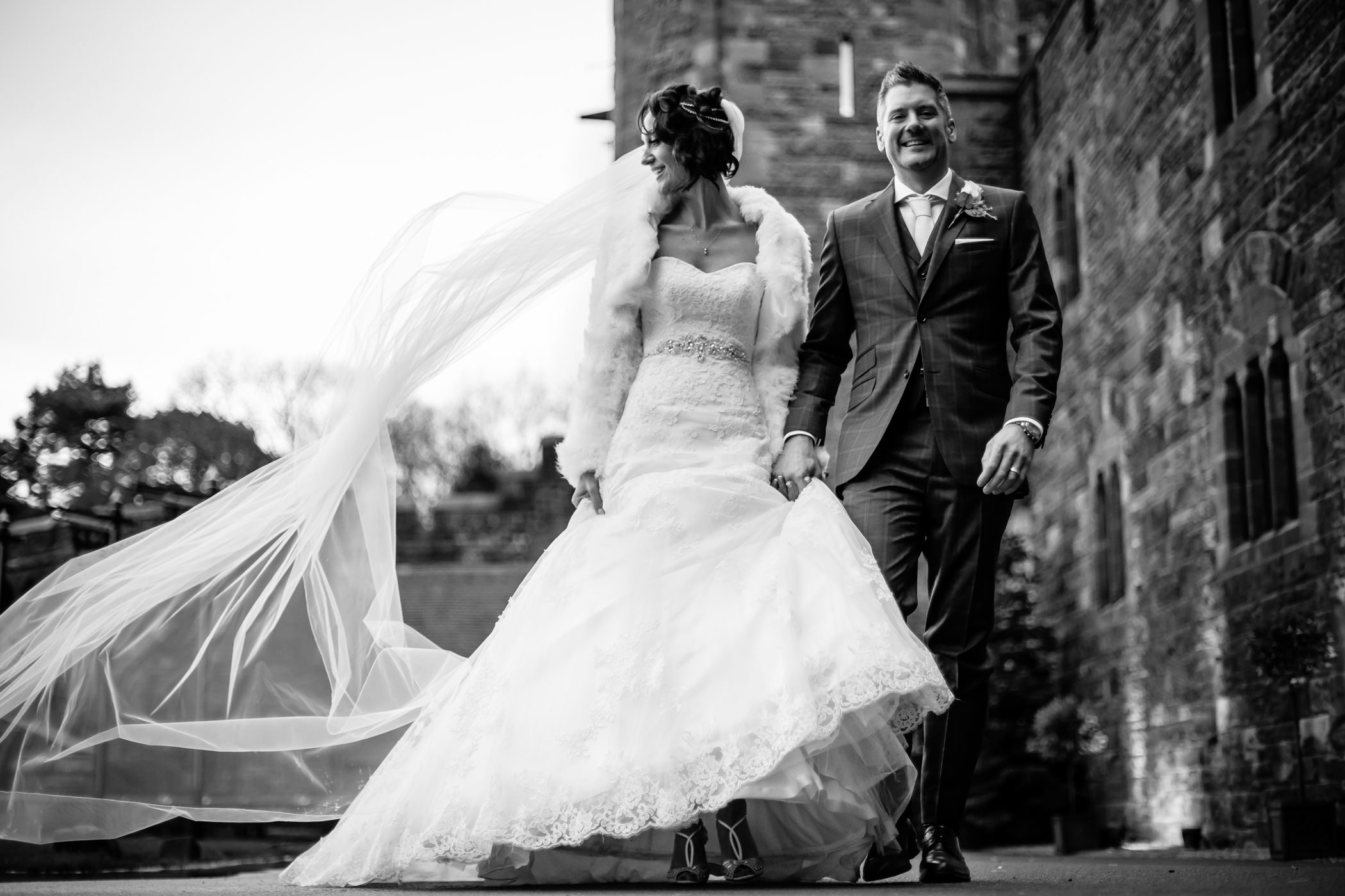 Ant & Louise NYE Peckforton Castle Wedding- Sansom Photography-36