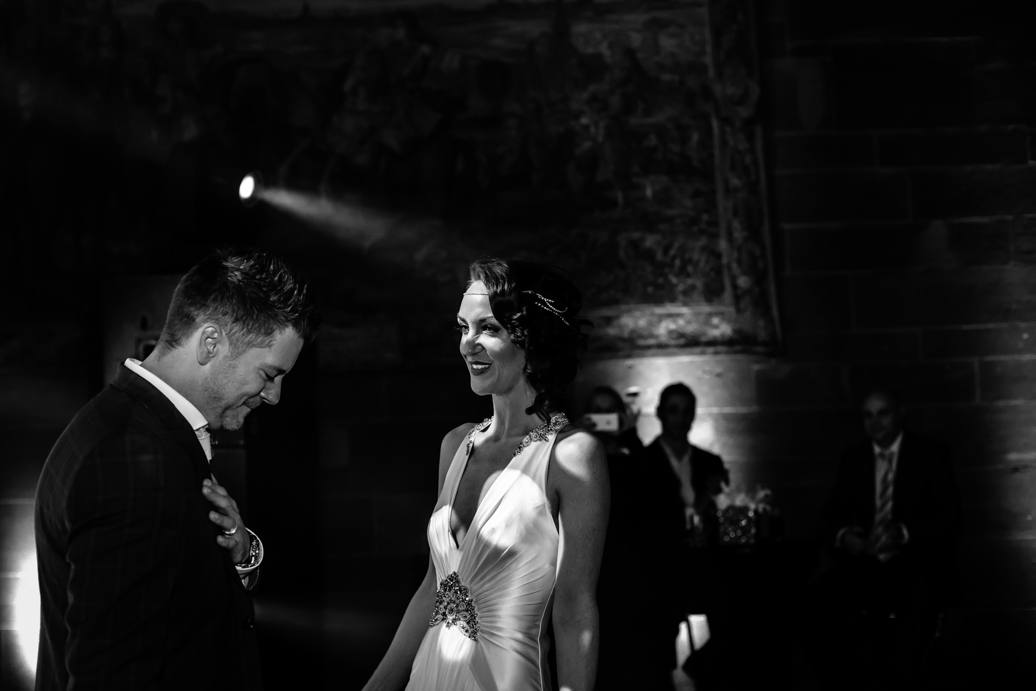 Ant & Louise NYE Peckforton Castle Wedding- Sansom Photography-85