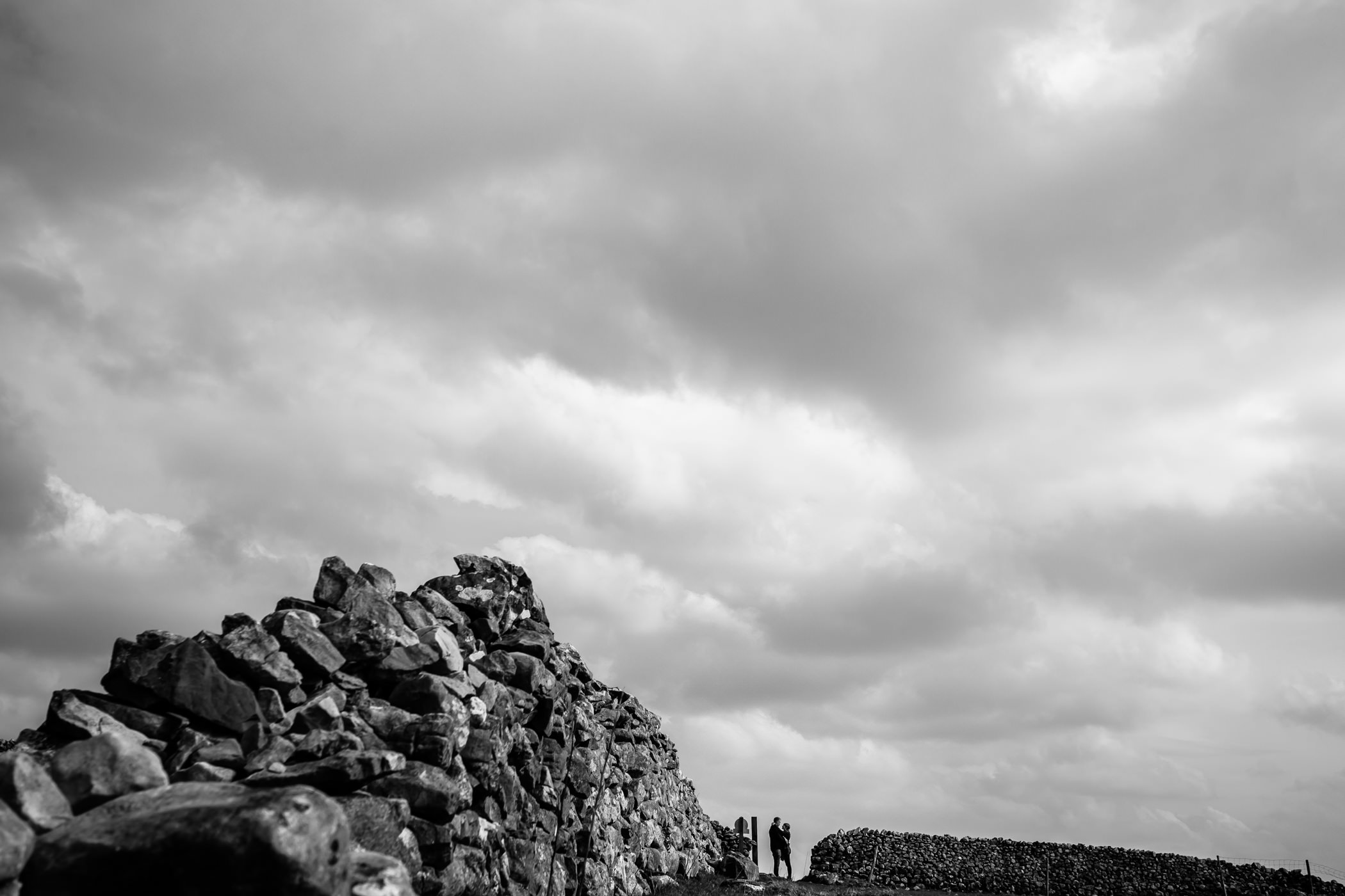 Helen & Adam Malham Cove engagement Photography Sansom photography-14