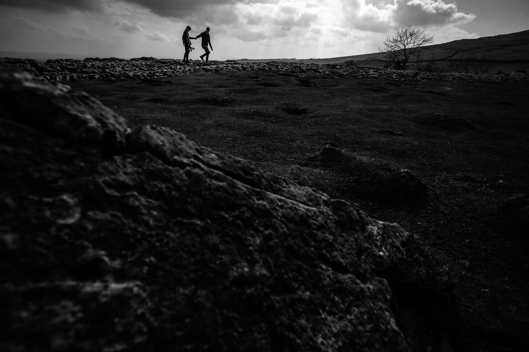Helen & Adam Malham Cove engagement Photography Sansom photography-2