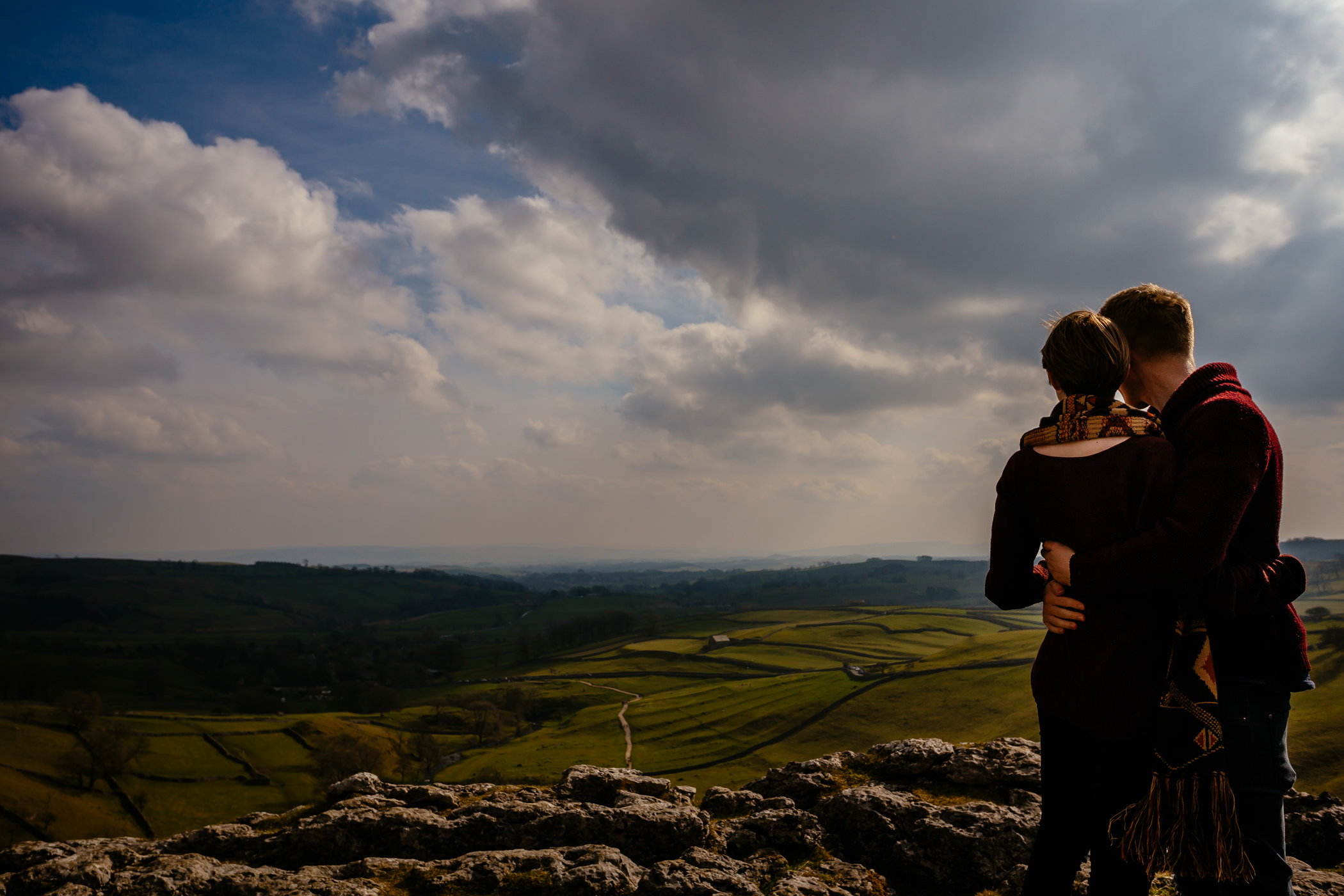 Helen & Adam Malham Cove engagement Photography Sansom photography-7