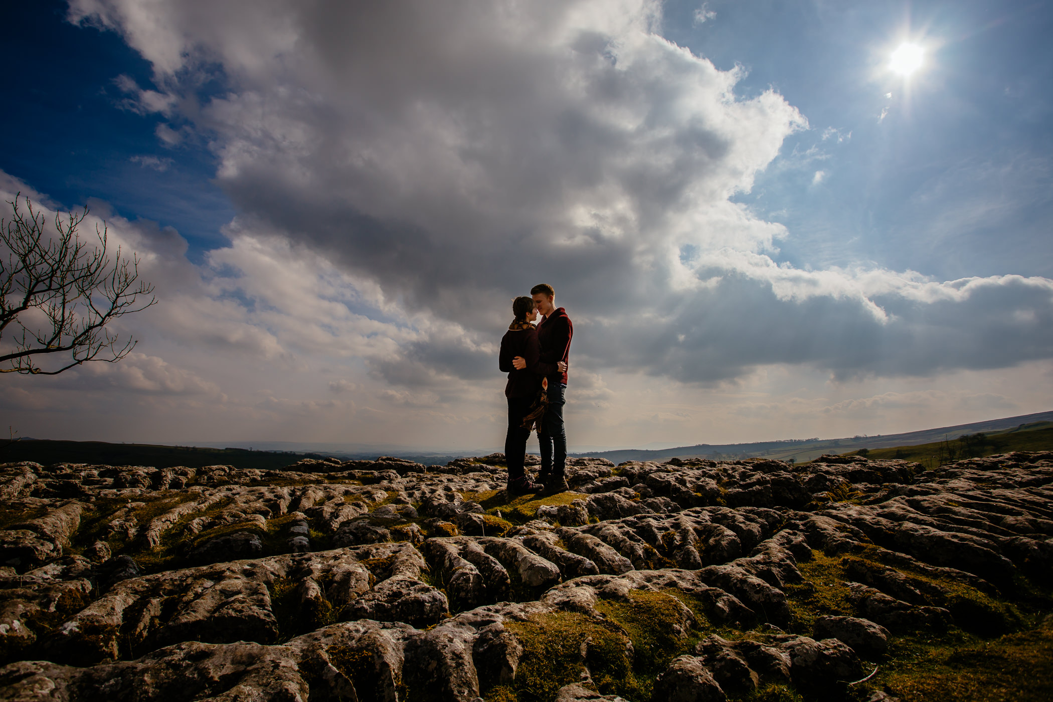 Helen & Adam Malham Cove engagement Photography Sansom photography-9
