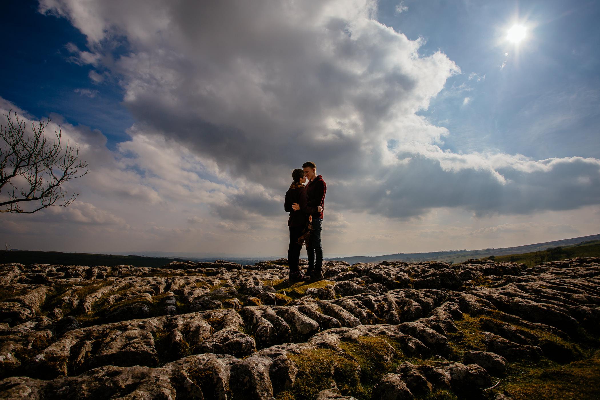 Helen & Adam Malham Cove engagement Photography Sansom photography-9