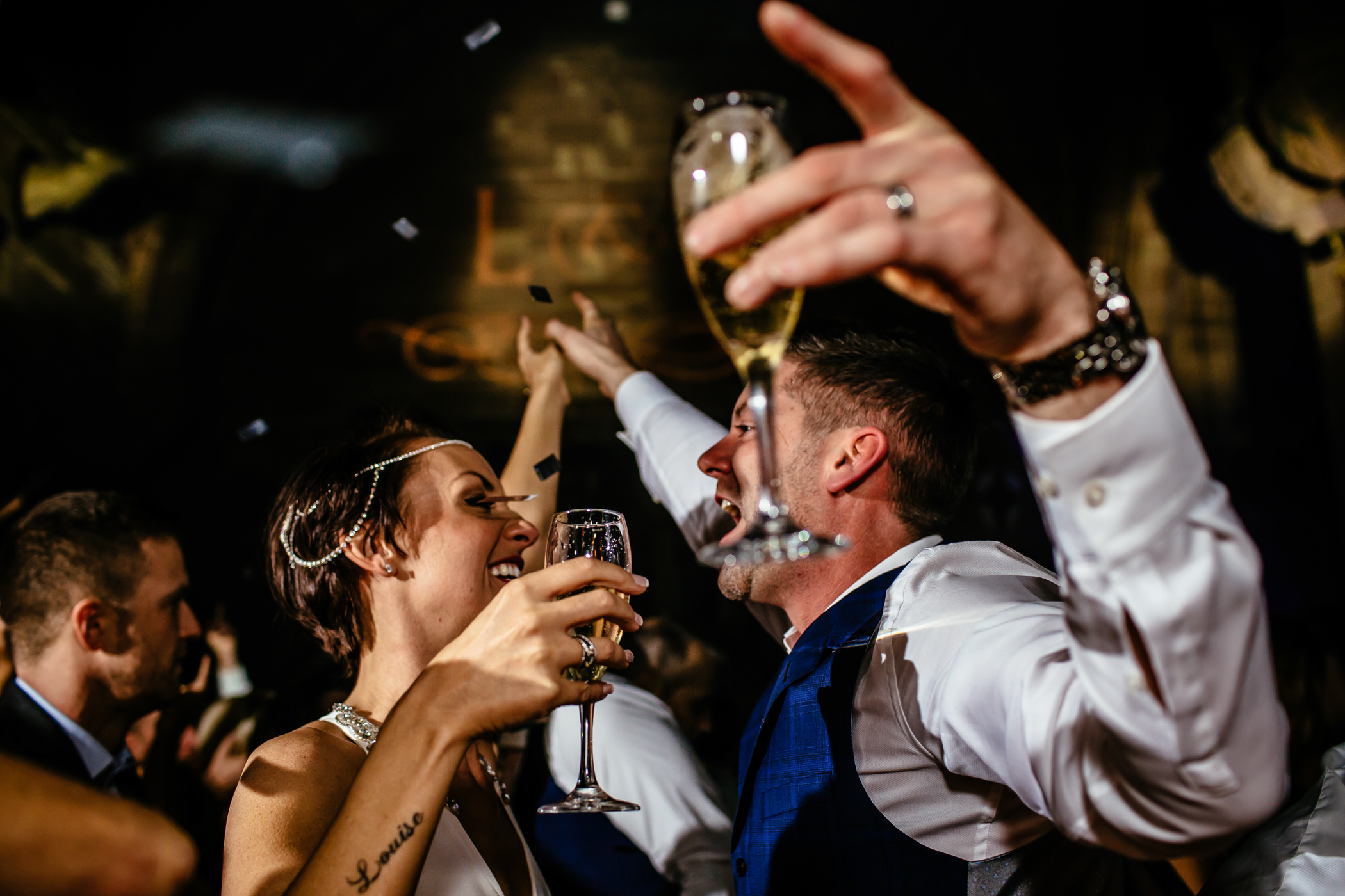 Ant & Louise NYE Peckforton Castle Wedding- Sansom Photography-31