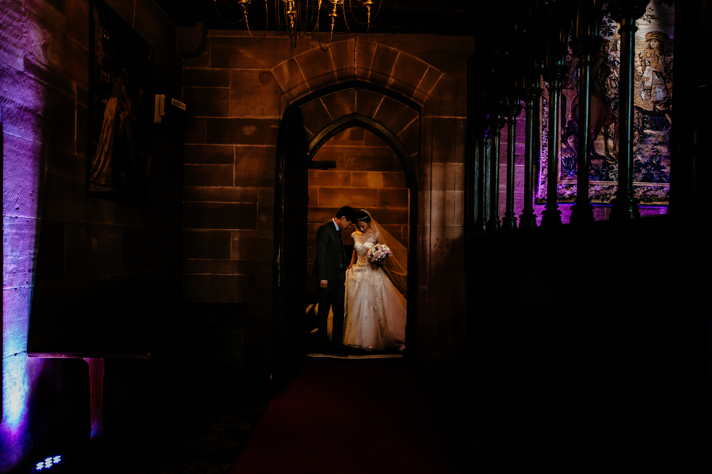 Sonia & Vincent - Sansom Photography Peckforton Castle Wedding Photography-22