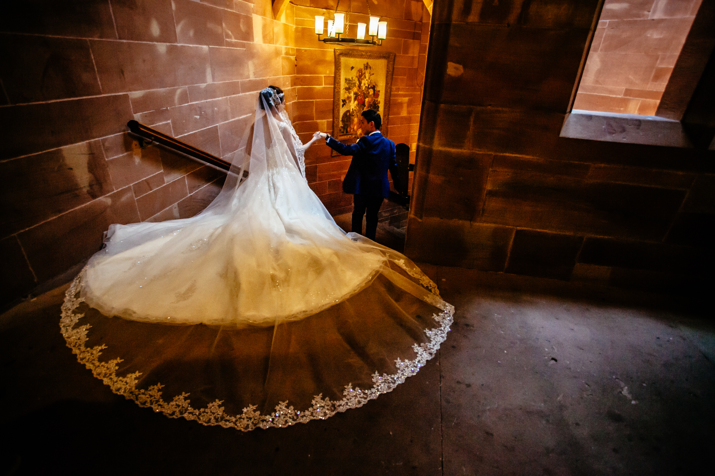 Sonia & Vincent - Sansom Photography Peckforton Castle Wedding Photography-32