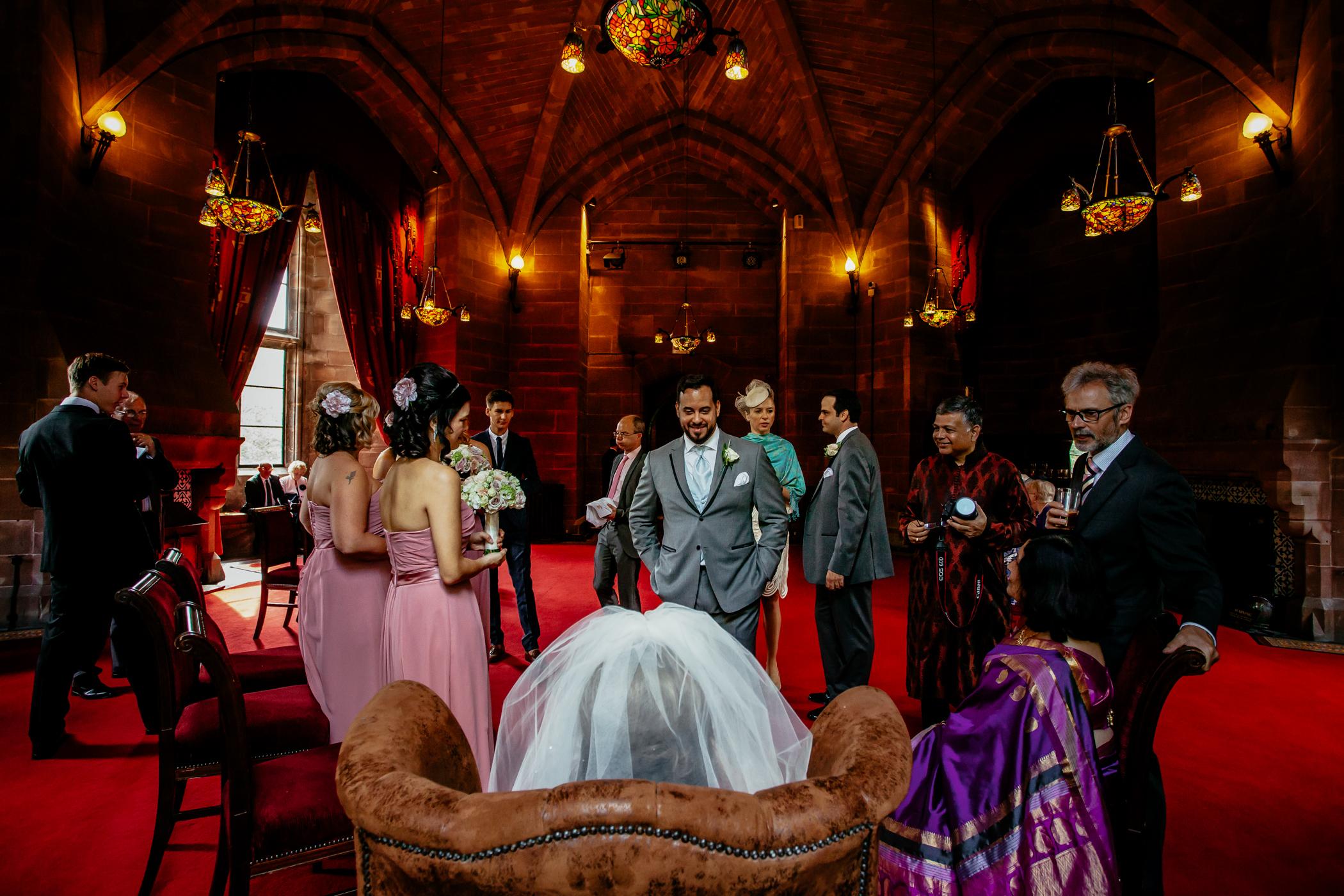 Emma & Alex Peckforton castle wedding - Sansom Photography-10