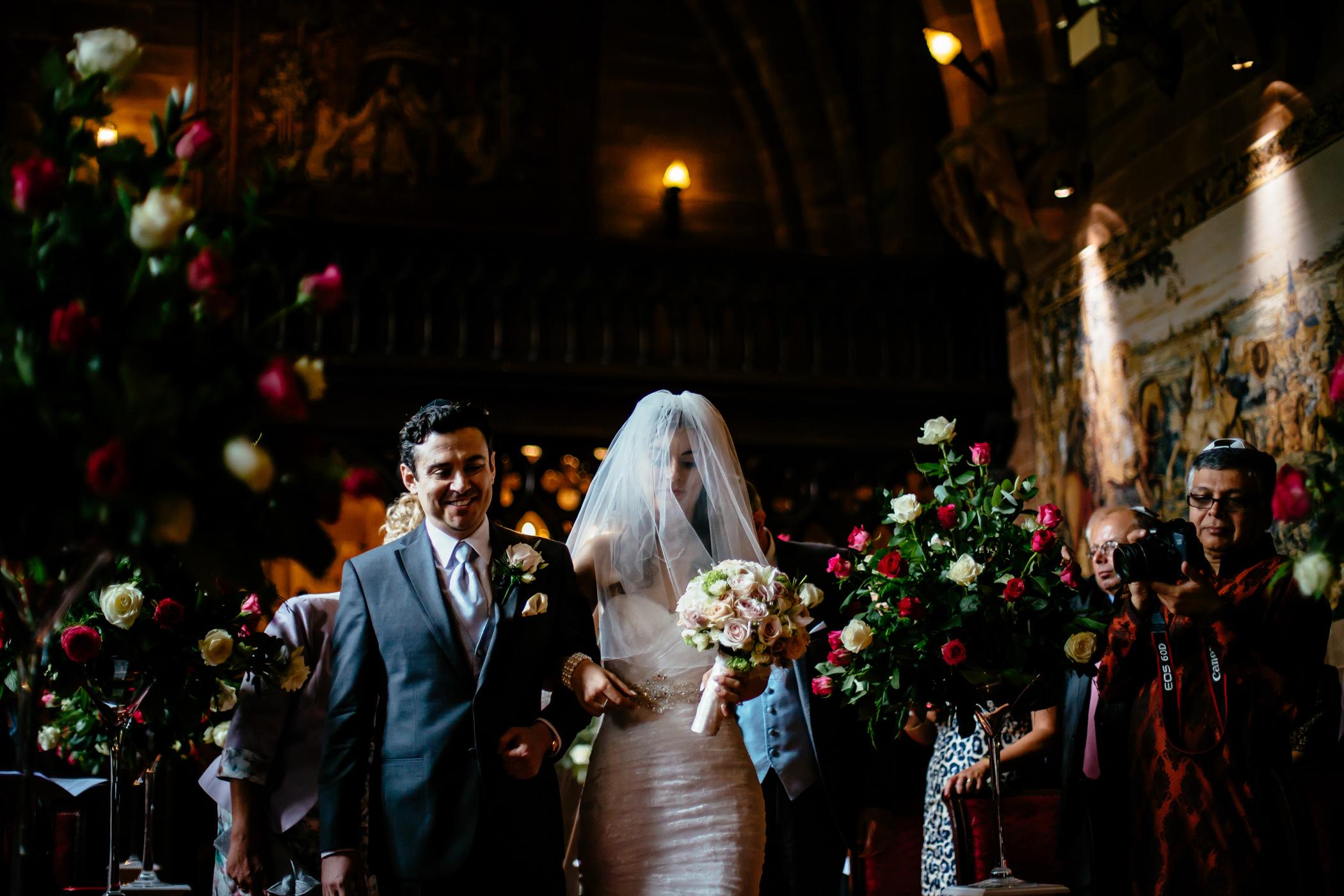 Emma & Alex Peckforton castle wedding - Sansom Photography-16