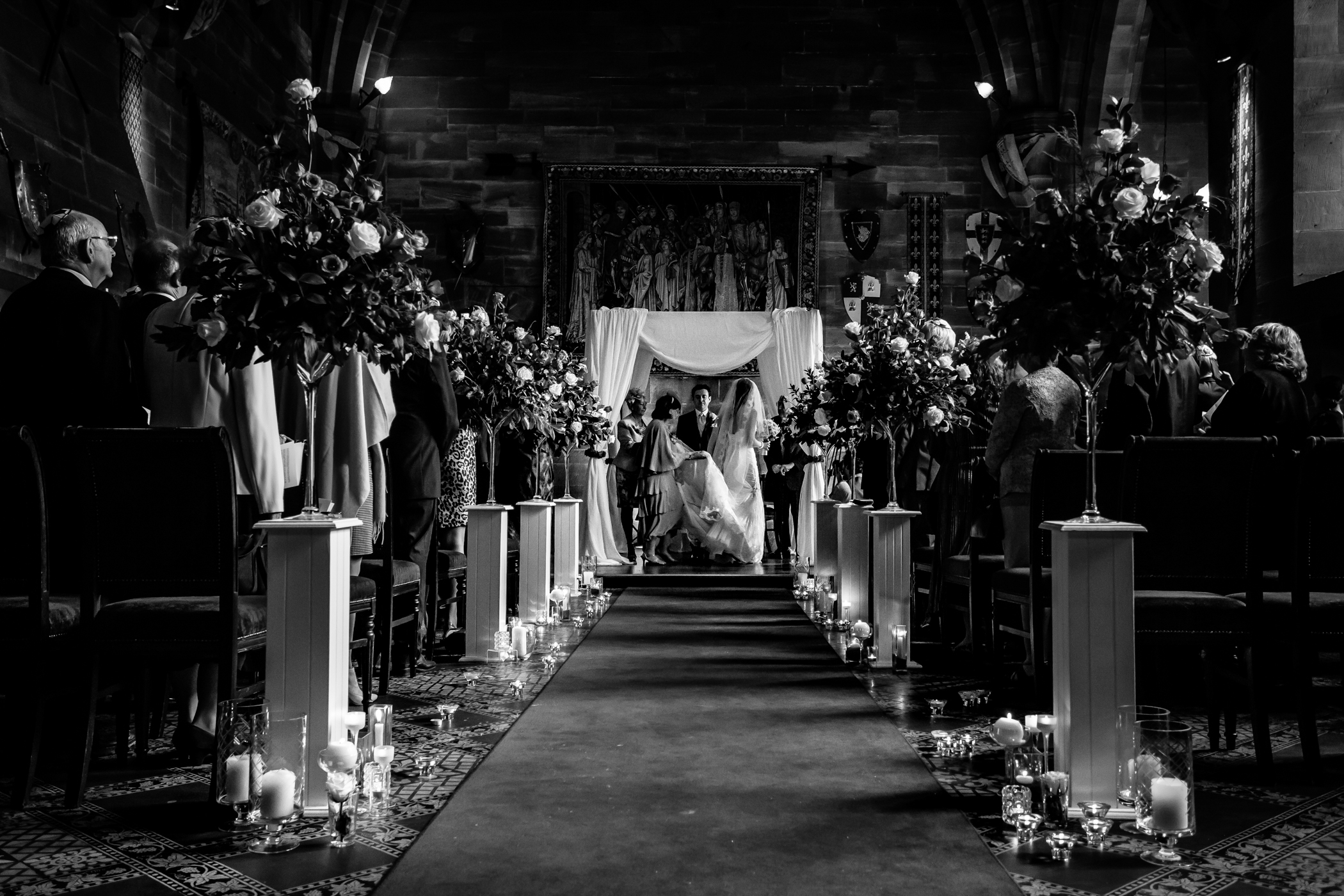 Emma & Alex Peckforton castle wedding - Sansom Photography-18