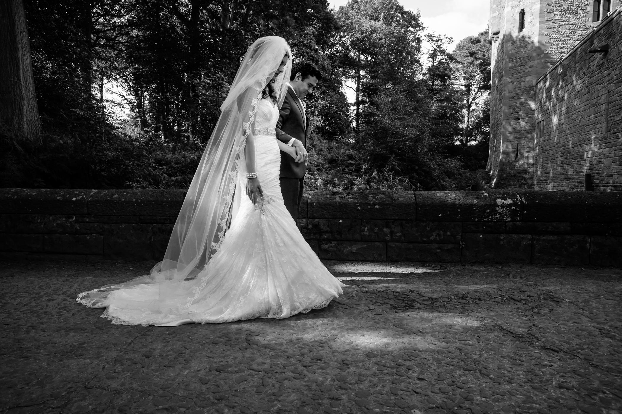 Emma & Alex Peckforton castle wedding - Sansom Photography-23