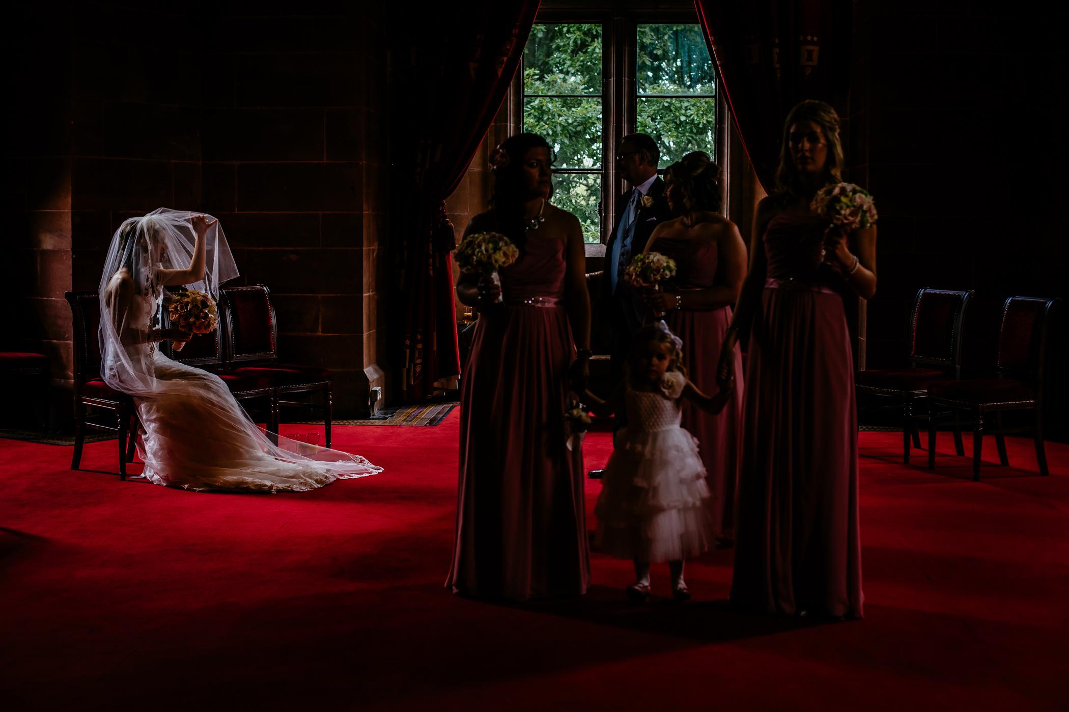 Emma & Alex Peckforton castle wedding - Sansom Photography-36