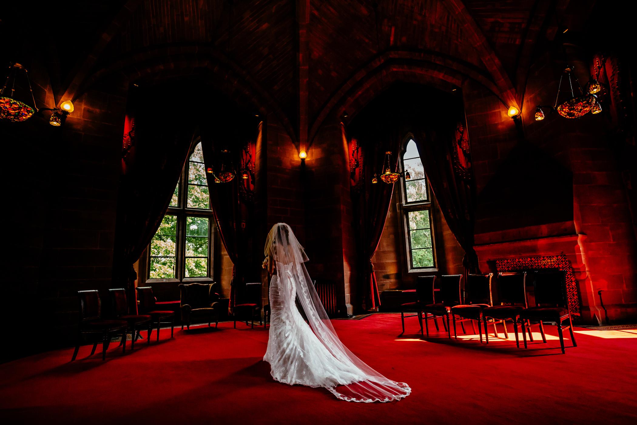 Emma & Alex Peckforton castle wedding - Sansom Photography-41