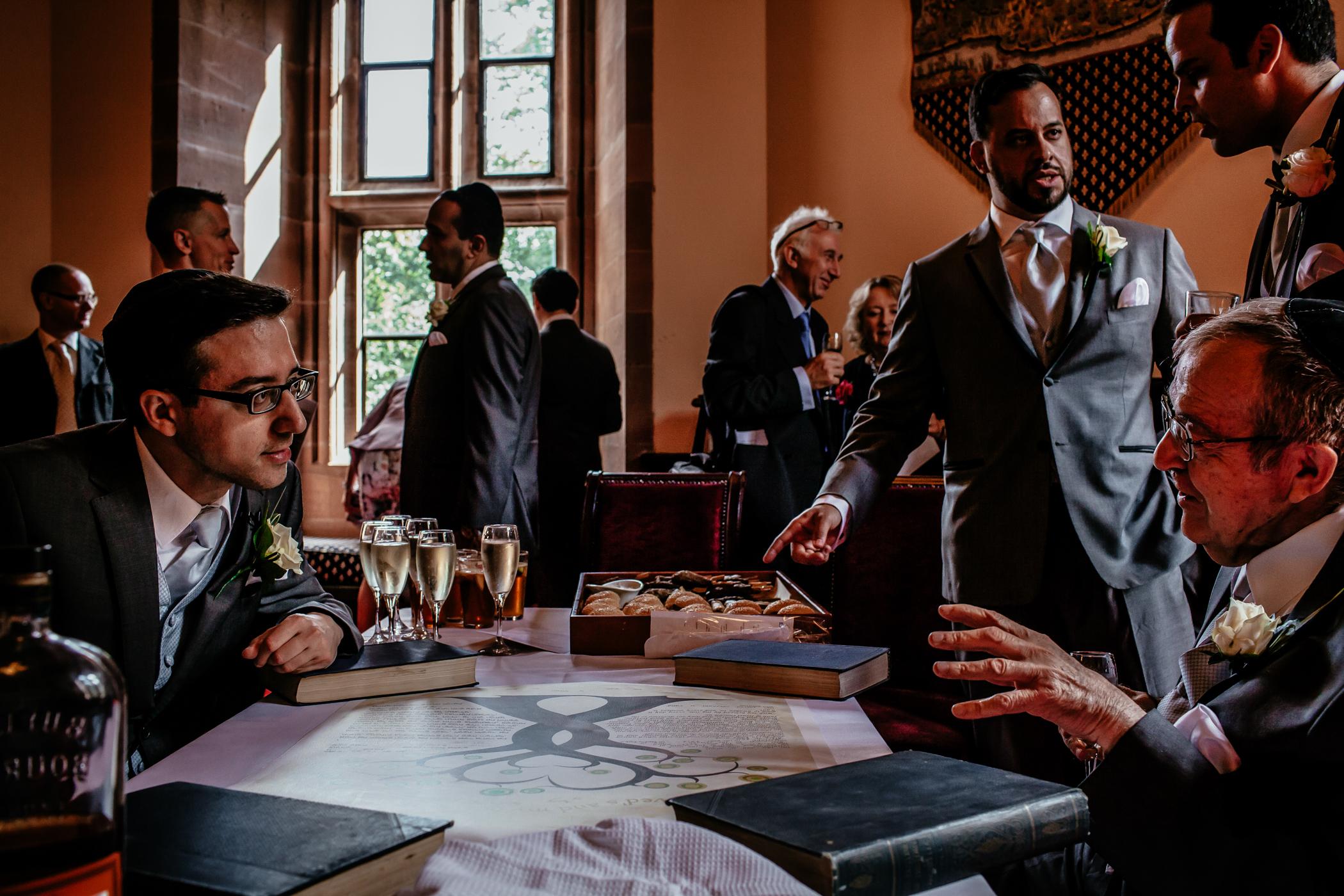 Emma & Alex Peckforton castle wedding - Sansom Photography-9