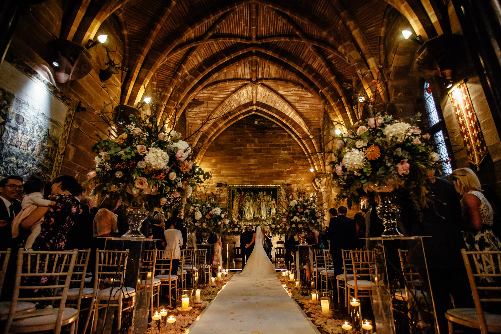 Ant & Louise NYE Peckforton Castle Wedding- Sansom Photography-10