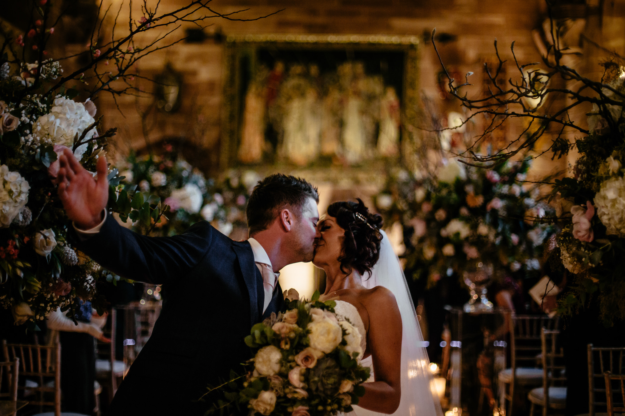 Ant & Louise NYE Peckforton Castle Wedding- Sansom Photography-13