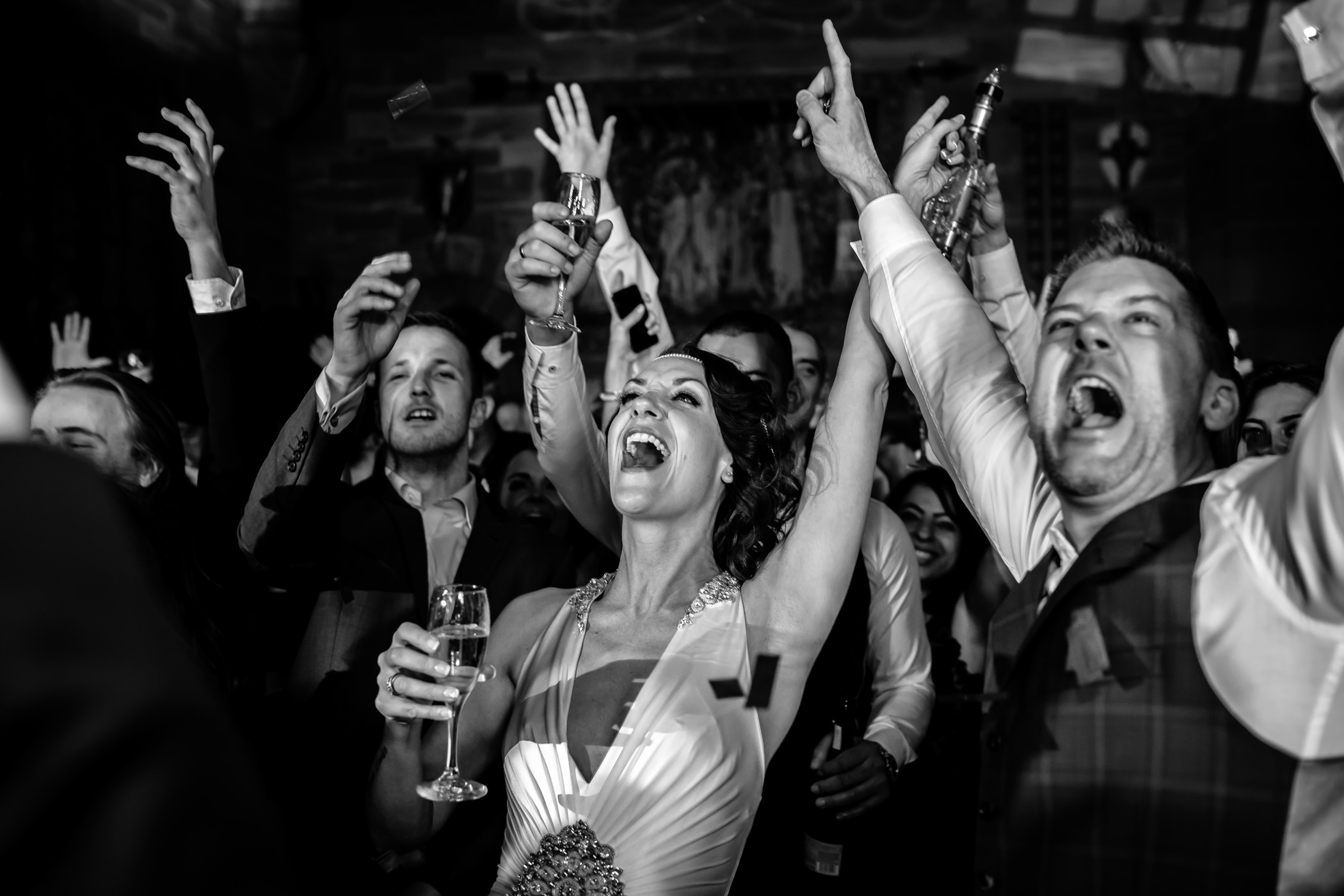 Ant & Louise NYE Peckforton Castle Wedding- Sansom Photography-30