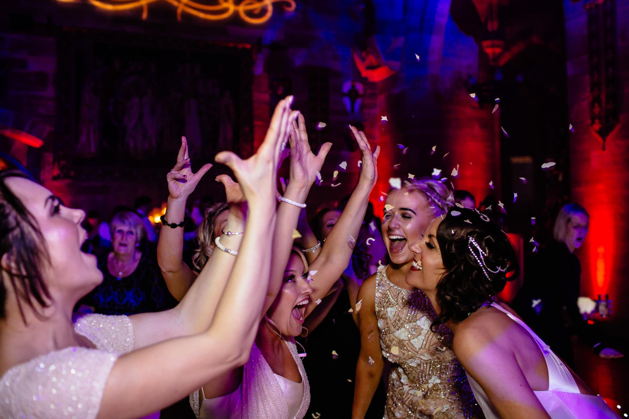 Ant & Louise NYE Peckforton Castle Wedding- Sansom Photography-81