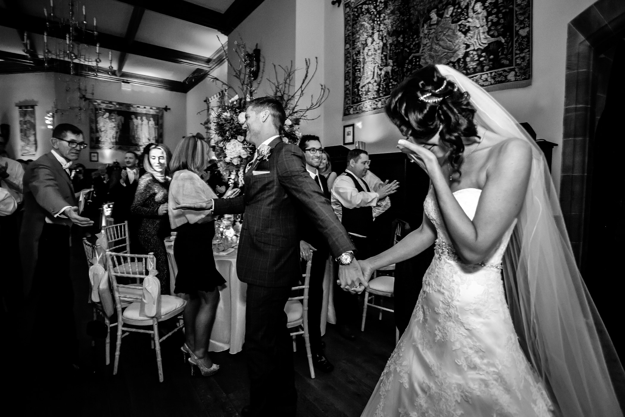 Ant & Louise NYE Peckforton Castle Wedding- Sansom Photography-99
