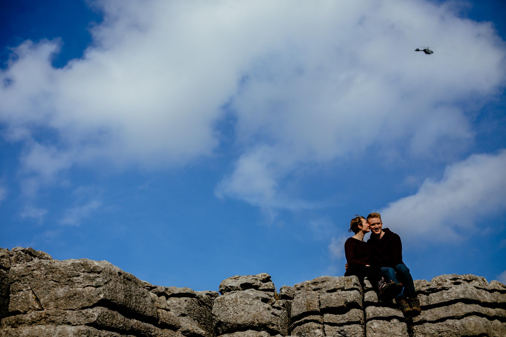 Helen & Adam Malham Cove engagement Photography Sansom photography-3